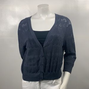 3FOR$20 Sonoma Grey Short Sweater Size: L